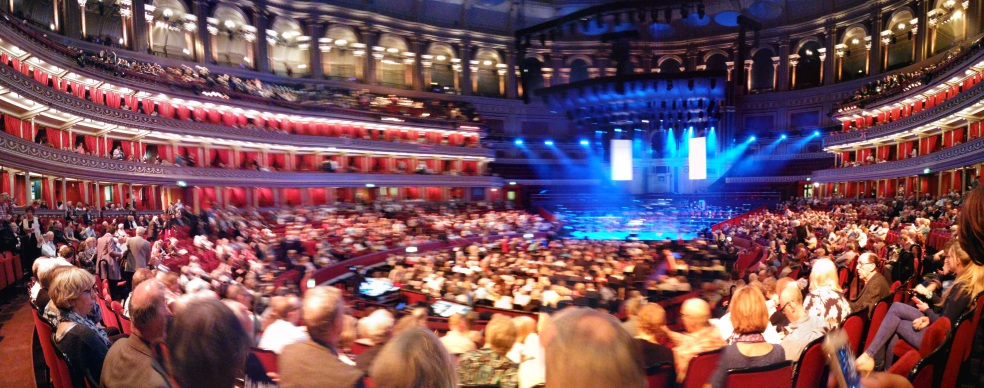 an attempted panoramic shot of the Albert Hall