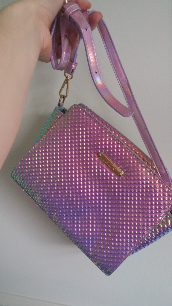 holo, mermaid, pink, shiny, bag a