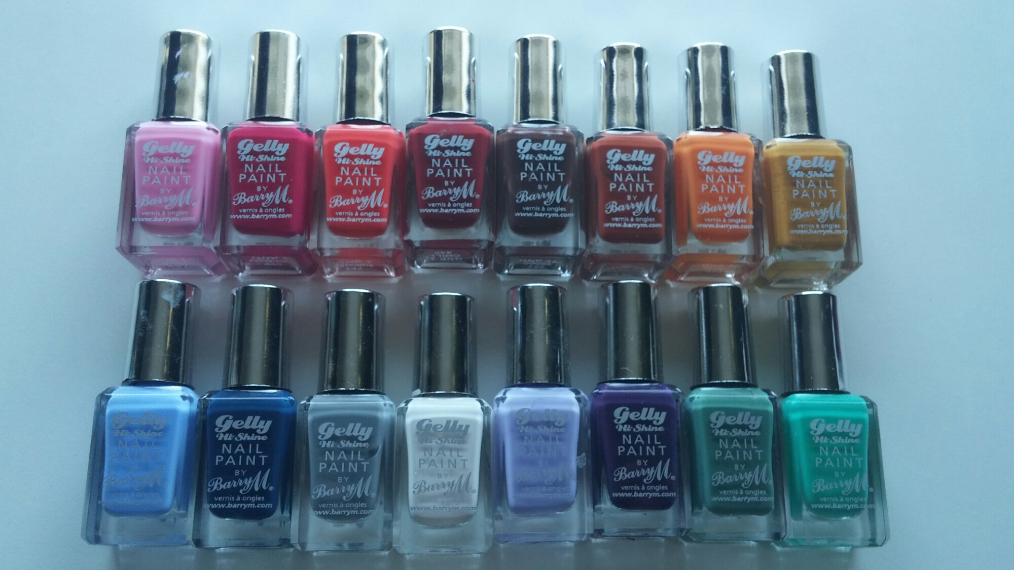 BarryM gelly hi-Shine Nail Paint Collection