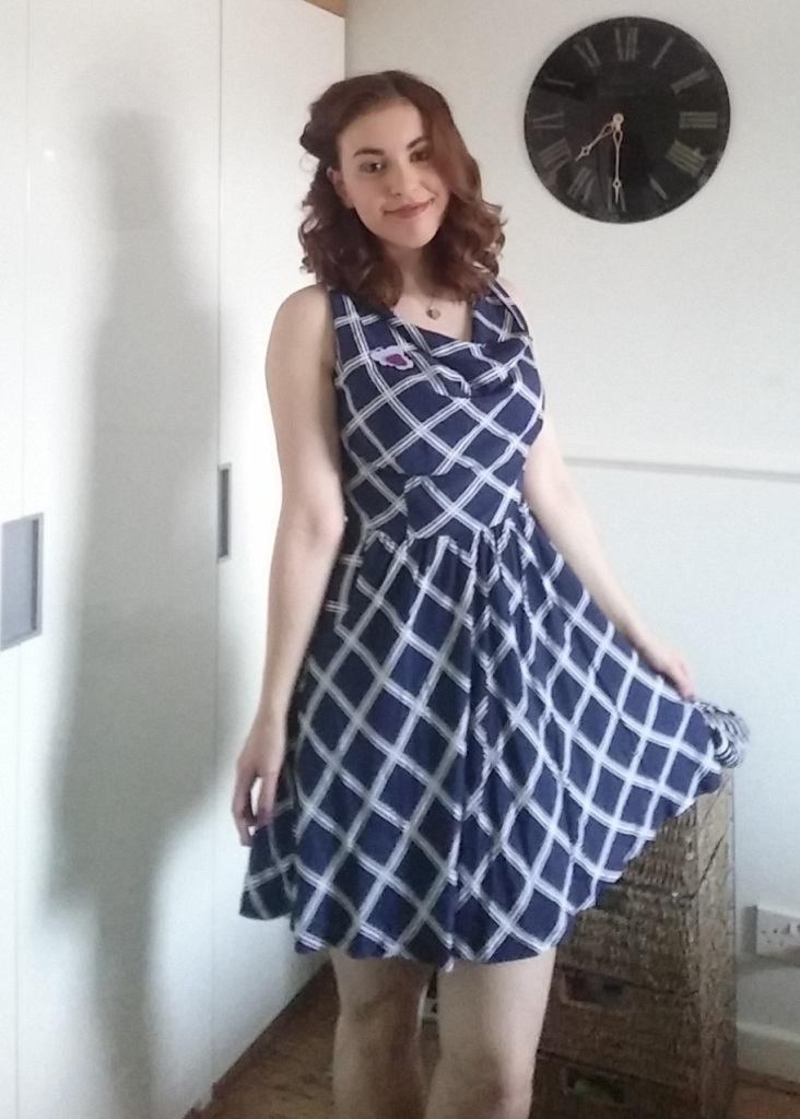 joy the store, dress, fit and flare, nautical, ootd, wiwt