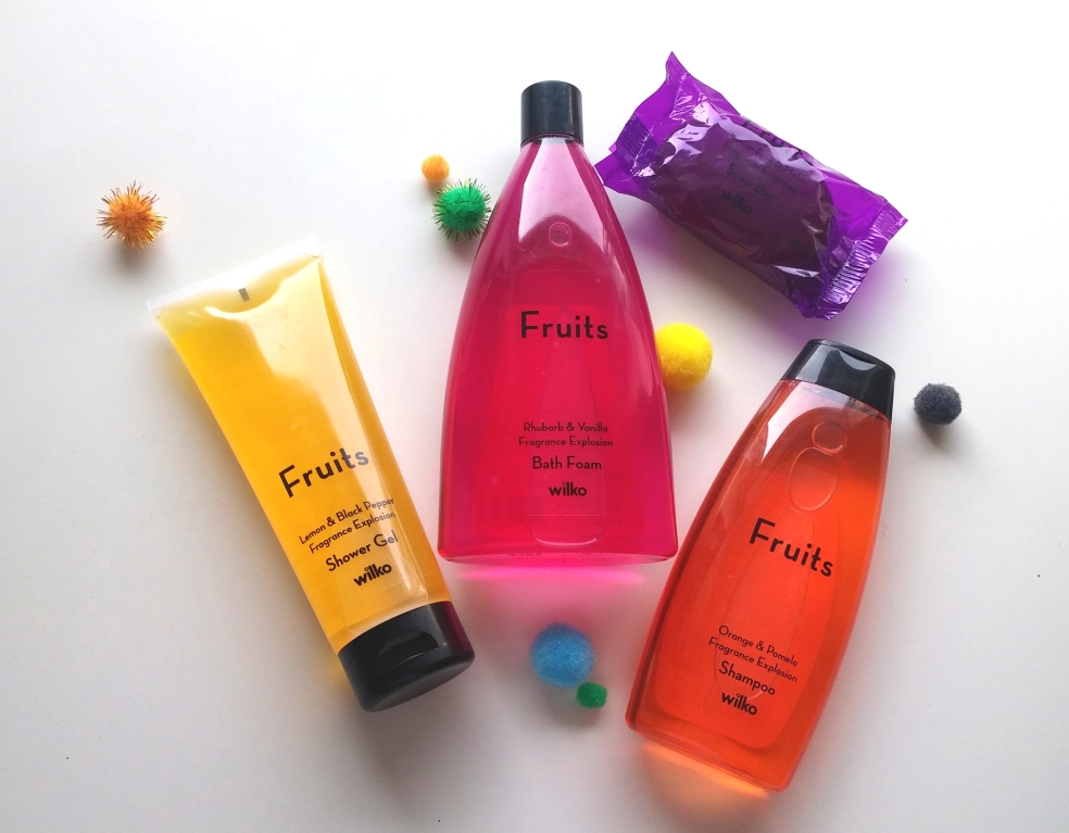 Fruits body care and skin care range at Wilko