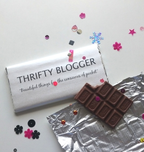thrifty blogger customized chocolate bar
