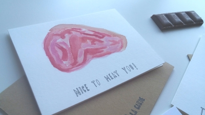 Nice to Meat you greetings.thank you card