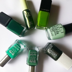 green nail polish collection