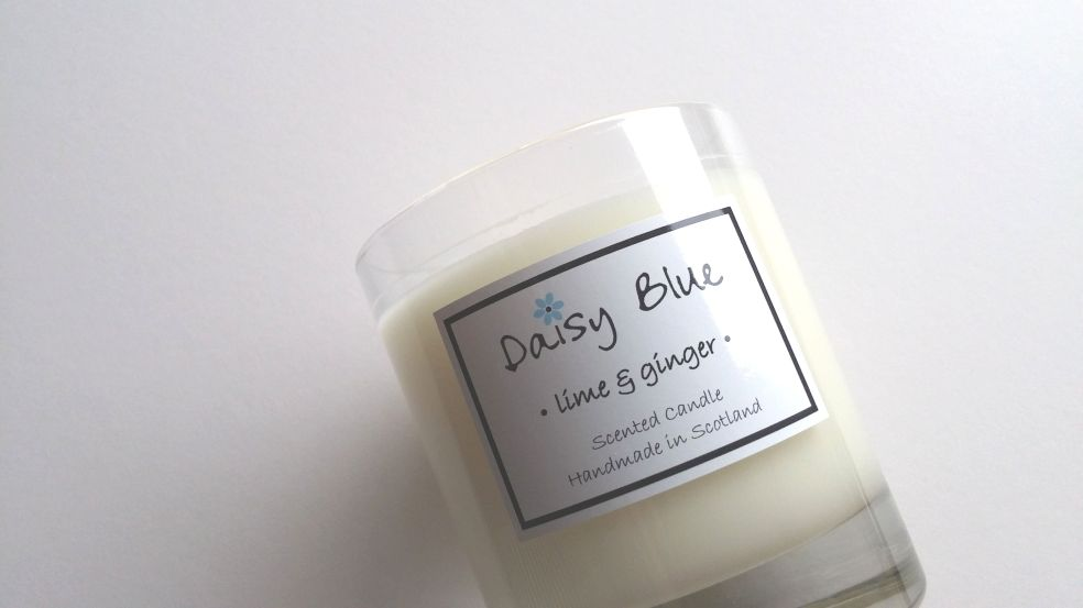 Daisy Blue Candles Lime and Ginger