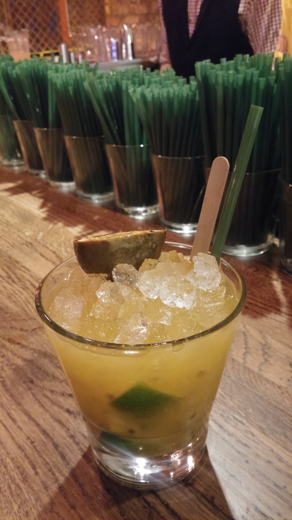 although I did take a moment to snap my Caipirihna before I drank it all!